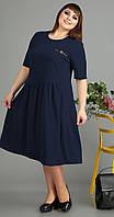 Платье Novella Sharm-3462 -c белорусский трикотаж, темно-синий, 60