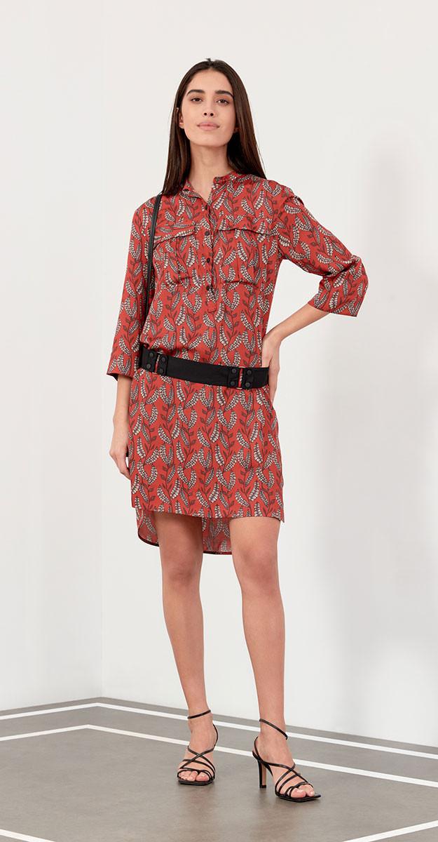 Платье Favorini-31097 белорусский трикотаж, красный, 42