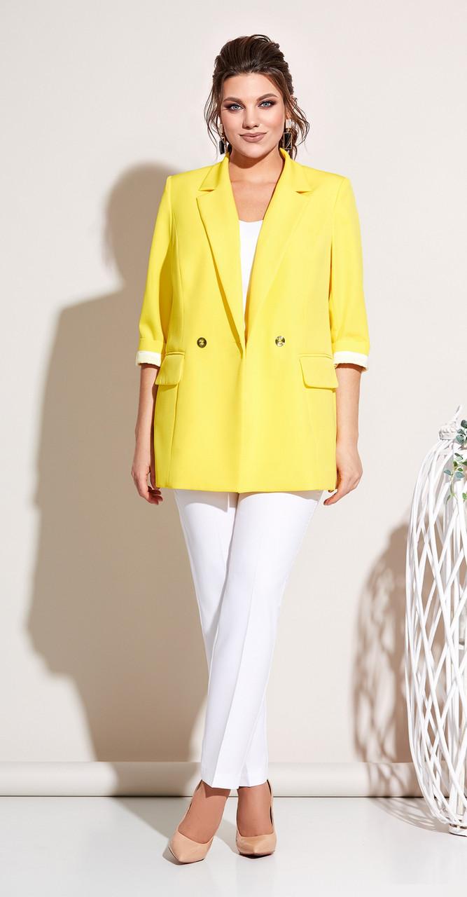 Жакет Olga Style-С662ж белорусский трикотаж, желтый, 42