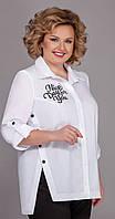 Блузка Теллура-Л-1495 белорусский трикотаж, белый с печатью, 52, фото 1