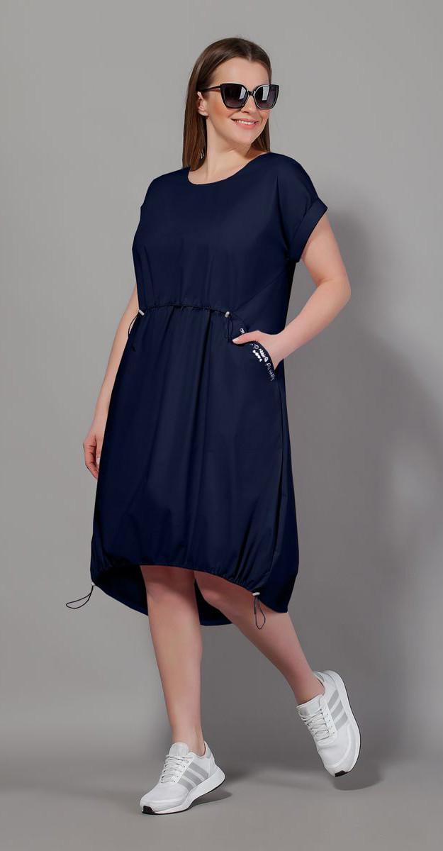 Платье Сч@стье-7057-9 белорусский трикотаж, темно-синий, 42