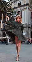 Платье Favorini-31148 белорусский трикотаж, черный в горошек, 46
