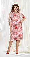 Платье AGATTI-3370 белорусский трикотаж, розовые тона, 54