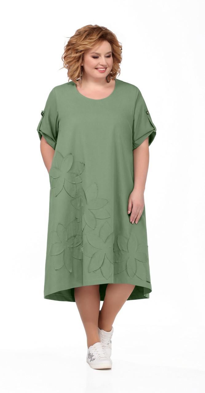 Платье Pretty-674/3 белорусский трикотаж, мята, 56