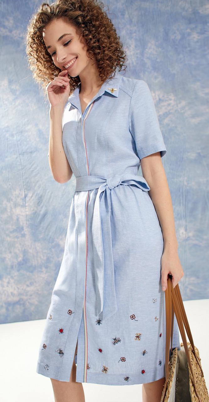 Платье Buter-2021G белорусский трикотаж, голубой, 46