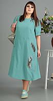 Платье Novella Sharm-3445 -C белорусский трикотаж, бирюза, 60, фото 1