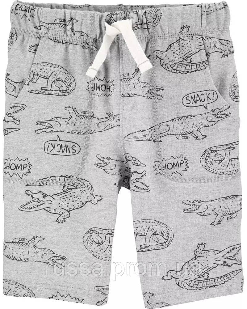 Детские летние шорты с крокодилами Картерс для мальчика