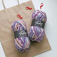 Носочная пряжа Drops Fabel - Print, 904 lavendel