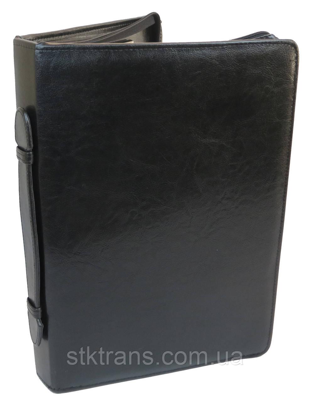 Папка из искусственной кожи с калькулятором JPB Черный (AK-11N)