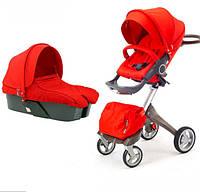 Универсальная коляска 2 в 1 DsLand V4 Красная