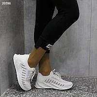 Женские белые кроссовки на платформе, АОВ 26896, фото 1
