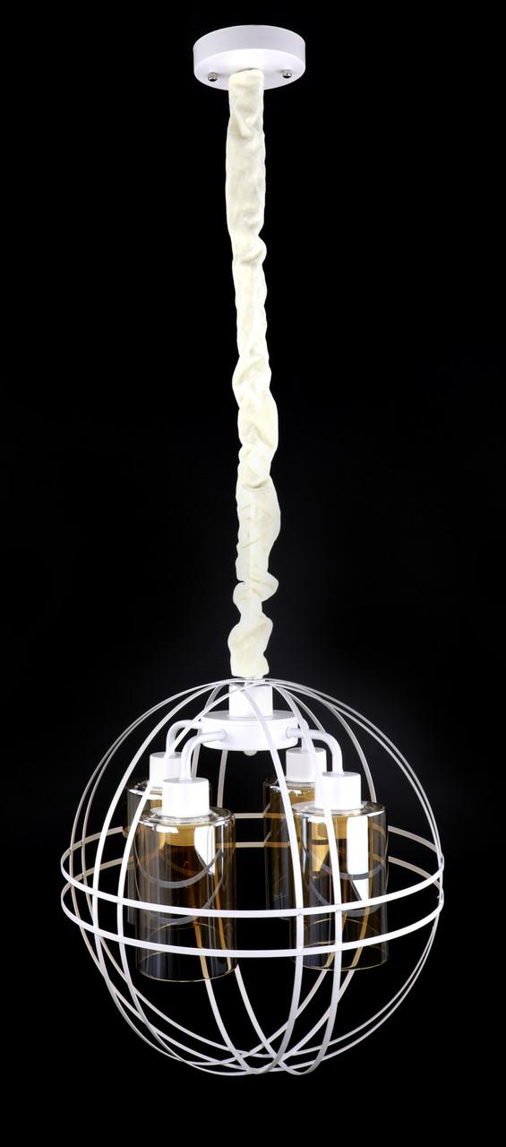 Люстра потолочная подвесная в стиле LOFT (лофт) 12525/4-wh Белый 50х41х41 см.