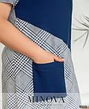Летнее женское платье для полных женщин большого размера 52,54,56,58,60, фото 3