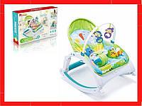 Детский шезлонг-качалка Шезлонг для ребенка с рождения Детская качеля