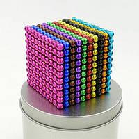Неокуб (NeoCube) в боксе 216 шариков цветной, неокуб цветной, неокуб радужный, неокуб 216 шариков