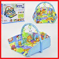 Мягкий развивающий коврик с бортиками для младенца Игровой коврик для мальчика от 0 мес