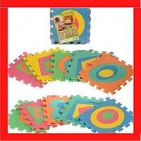 Коврик пазл Фигуры больше и меньше Дитячий килимок пазл  Детский развивабщий коврик