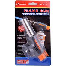 Газовая горелка с пьезоподжигом Flame Gun 807-1, горелка газовая, газовая горелка, зажигалка
