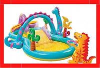 Детский надувной центр «Планета динозавров» Надувной бассейн для малышей Детский бассейн Бассейн для детей