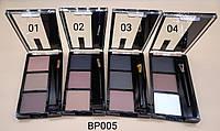 Палитра теней от фирмы DODO 3 цвета