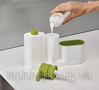 Органайзер для раковины с дозатором для мыла SINK BASE PLUS 3 в 1, фото 6