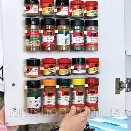 Держатель кухонный органайзер для шкафов и холодильников Clip n Store
