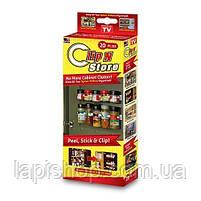 Держатель кухонный органайзер для шкафов и холодильников Clip n Store , фото 3