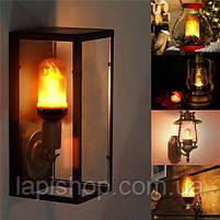 Лампа с эффектом пламени огня LED Flame Bulb А+E27, фото 4
