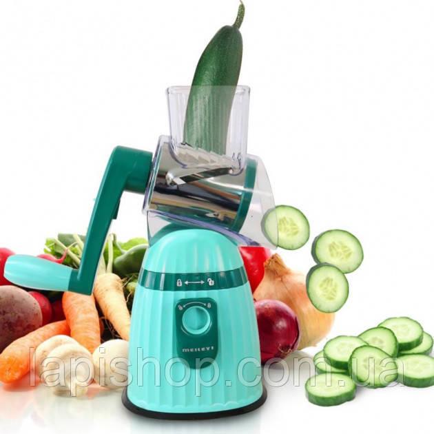 Многофункциональная овощерезка Meileyi Vegetable Slicer Бирюзовая MLY-661A