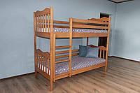 """Двоярусне ліжко Дрімка """"Мауглі"""" масив буку"""