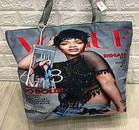 Пляжная сумка с принтом Вог женская летняя большая с кошельком ручки 50х40х15см 3052
