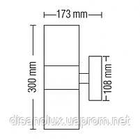 Світильник  фасадний  MANOLYA-3   чорний 2 x E27, фото 2