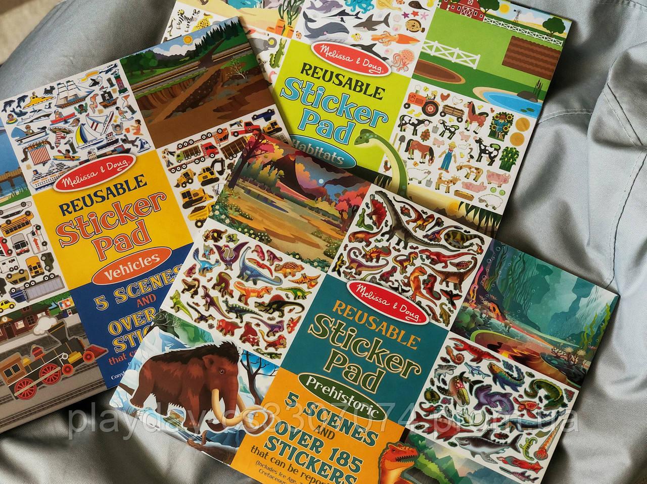 Тетрадь с многоразовыми наклейками для девочек и мальчиков Melissa & Dough