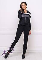 Трикотажные женский спортивный костюм на молнии