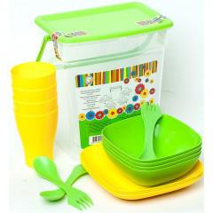 """Набор посуды для пикника """"Подарочный"""" на 4 персоны Алеана"""