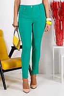 Летние брюки женские Зара Пуговица р. 50-60, фото 1