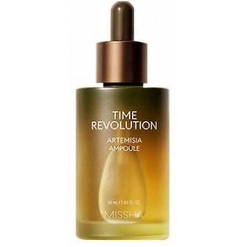 MISSHA Time Revolution Artemisia Ampoule 50 мл Сыворотка-ампула с лечебным экстрактом Полыни