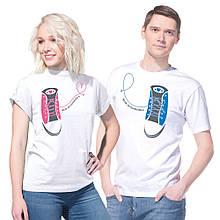 """Парные футболки для парня и девушки """"Моя половинка"""""""