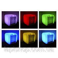 Настольные часы хамелеон Куб Color change, фото 4