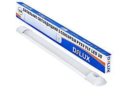 Светильник ЛЕД 16Вт 590мм 6500К IP20 линейный светодиодный с датчиком движения DELUX FLF LED 30