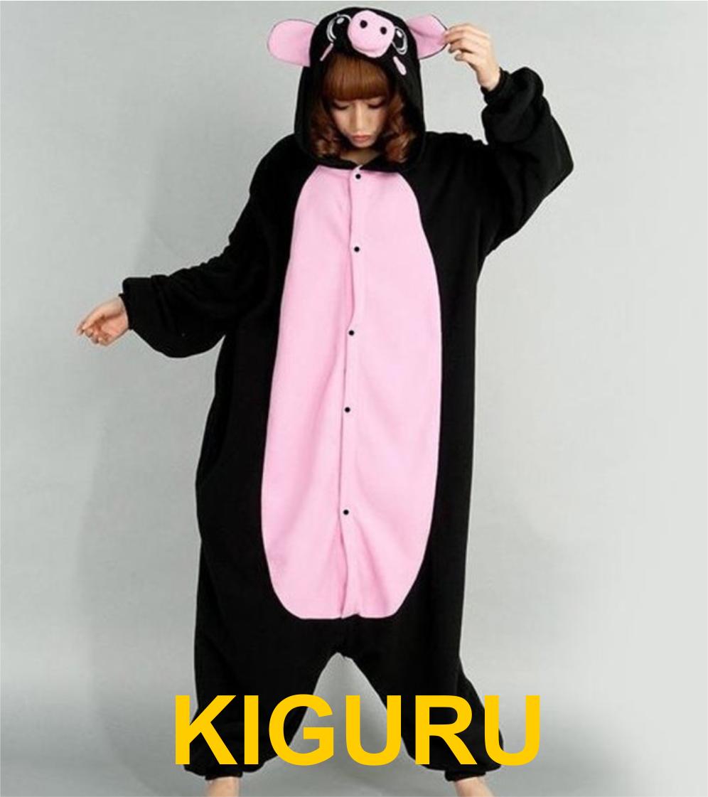 Кигуруми черная свинка пижама - KIGURU в Киеве 983ef33ce7bd3