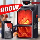 Компактный обогреватель камин мини быстрое тепло Flame Heater 900W, фото 2