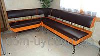 Угловой мягкий диванчик для рецепции, офиса, приемной