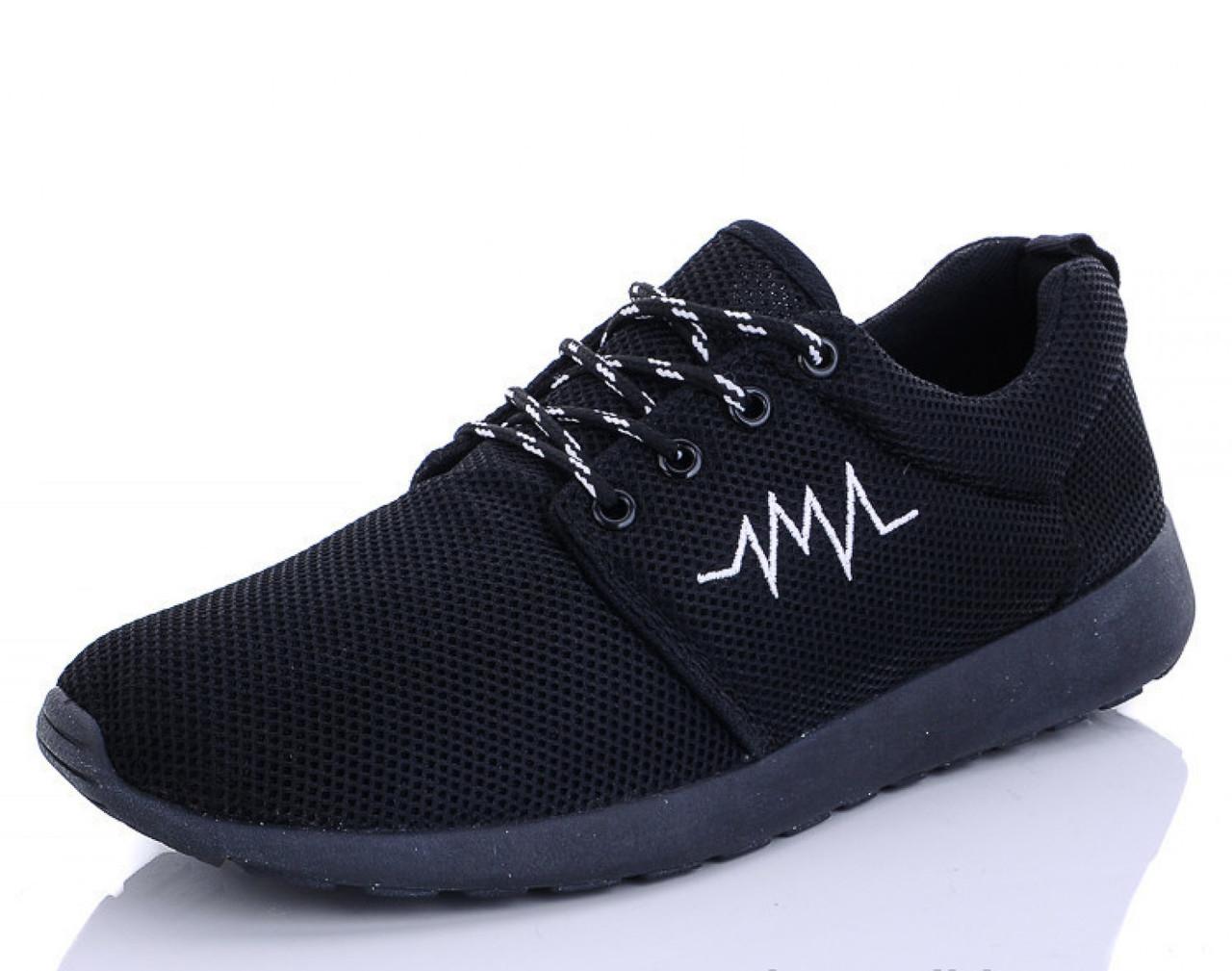 Мужские сетчатые кроссовки черные летние 41 р. - 25,5 см BR-S 1185272668