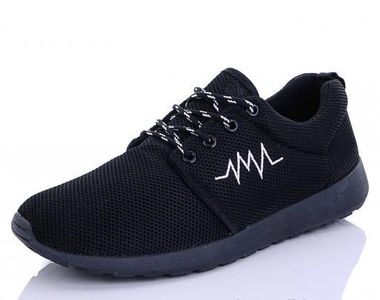 Мужские сетчатые кроссовки черные летние 41 р. - 25,5 см BR-S 1185272668, фото 2