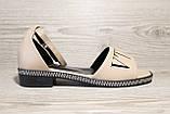 Бежевые женские босоножки на невысоком каблуке. Размеры 36-41., фото 2