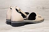 Бежевые женские босоножки на невысоком каблуке. Размеры 36-41., фото 5