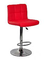 Барный стул Арно красный кожзам + хром/ Arno  BAR CH - Base