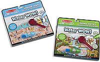 Многоразовые блокноты для рисования водой и поиска предметов с лупой Water WOW Melissa and Dough