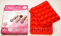 Силиконовая форма для выпечки конфет с палочками Tasty Top Cake Pops, фото 2